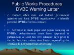 public works procedures dvbe warning letter26
