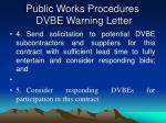 public works procedures dvbe warning letter27