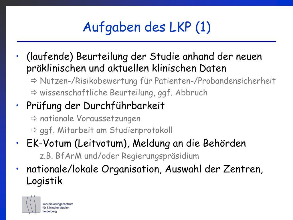 Aufgaben des LKP (1)
