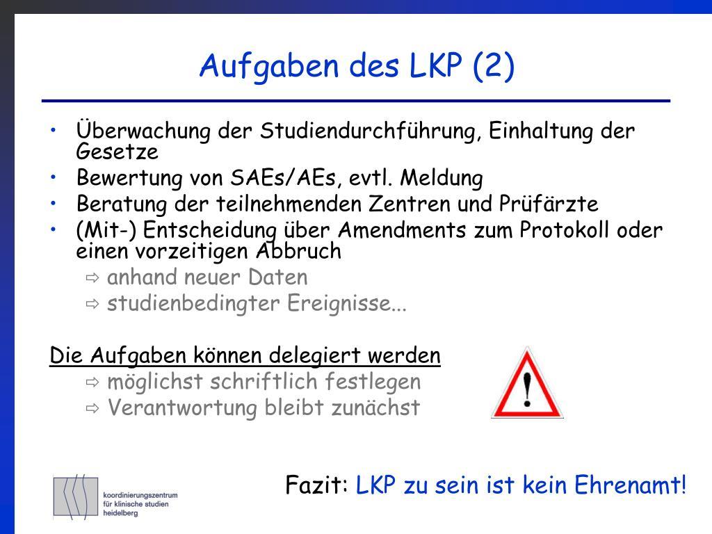 Aufgaben des LKP (2)
