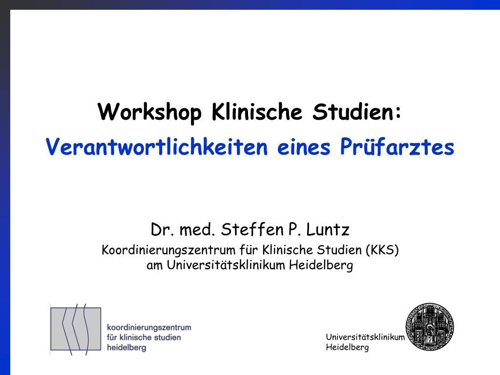 Workshop Klinische Studien: