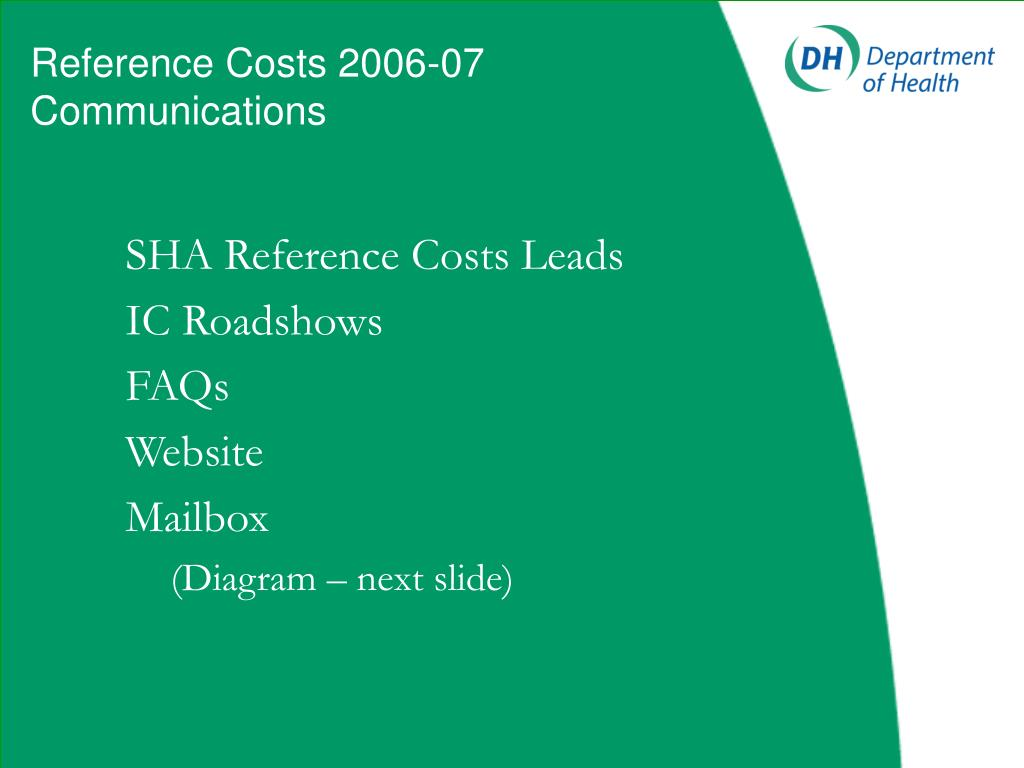 Reference Costs 2006-07 Communications
