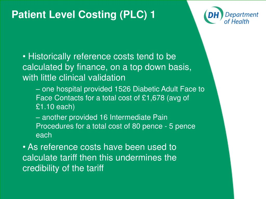 Patient Level Costing (PLC) 1
