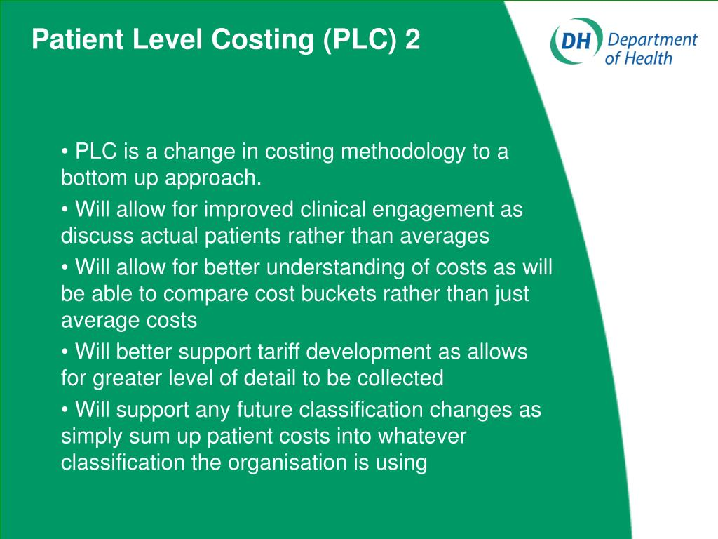 Patient Level Costing (PLC) 2
