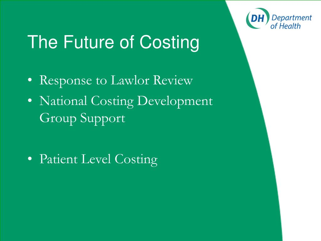 The Future of Costing