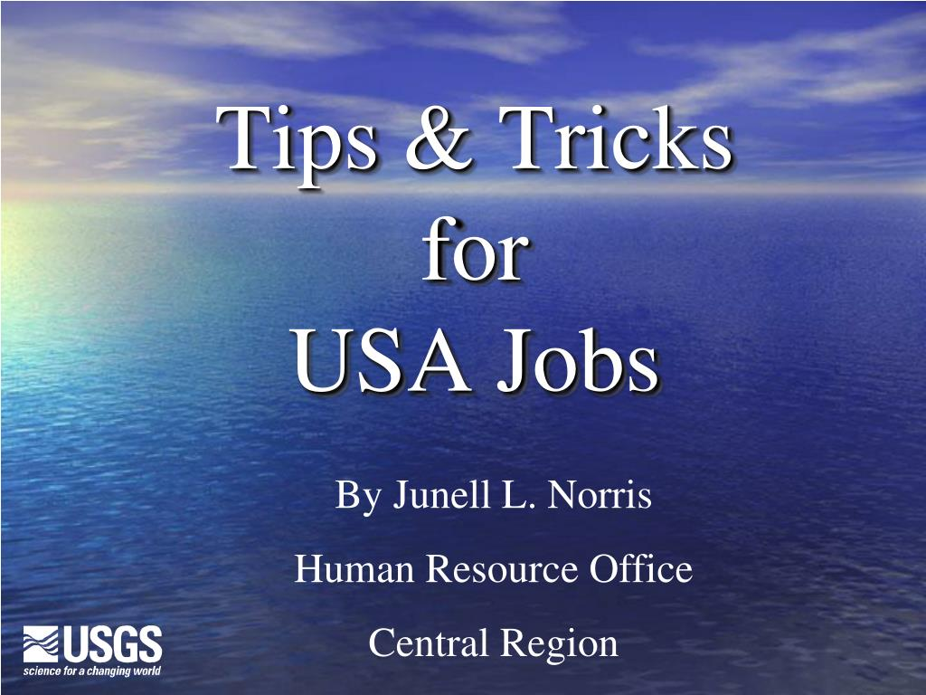 tips tricks for usa jobs