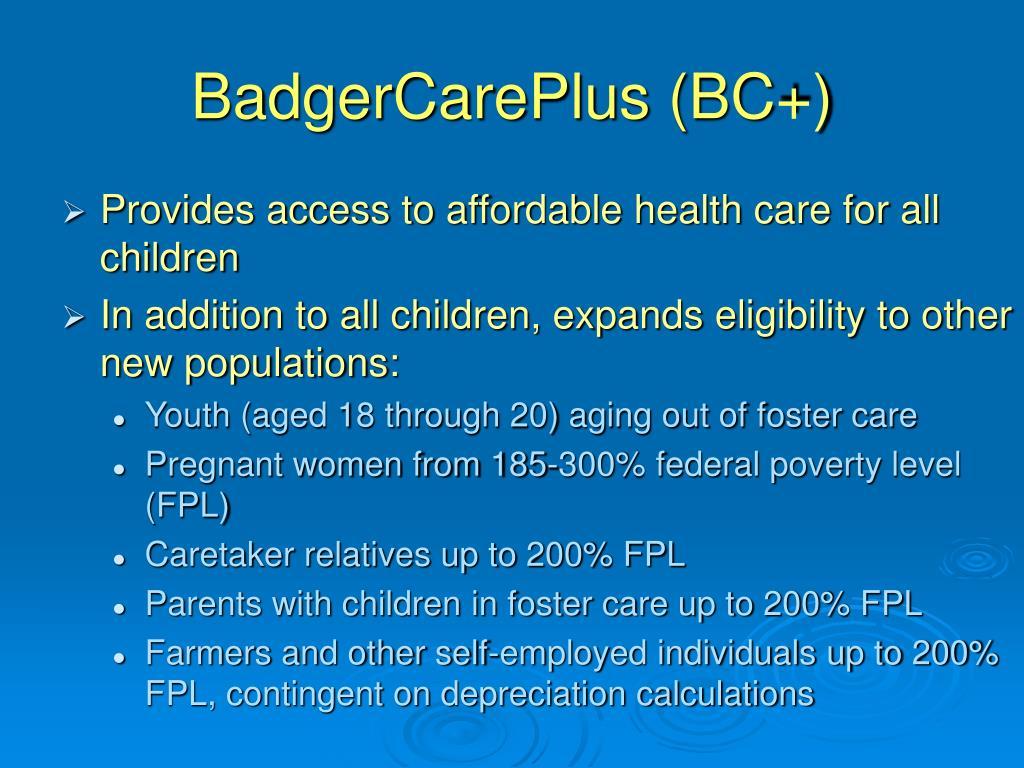 BadgerCarePlus (BC+)