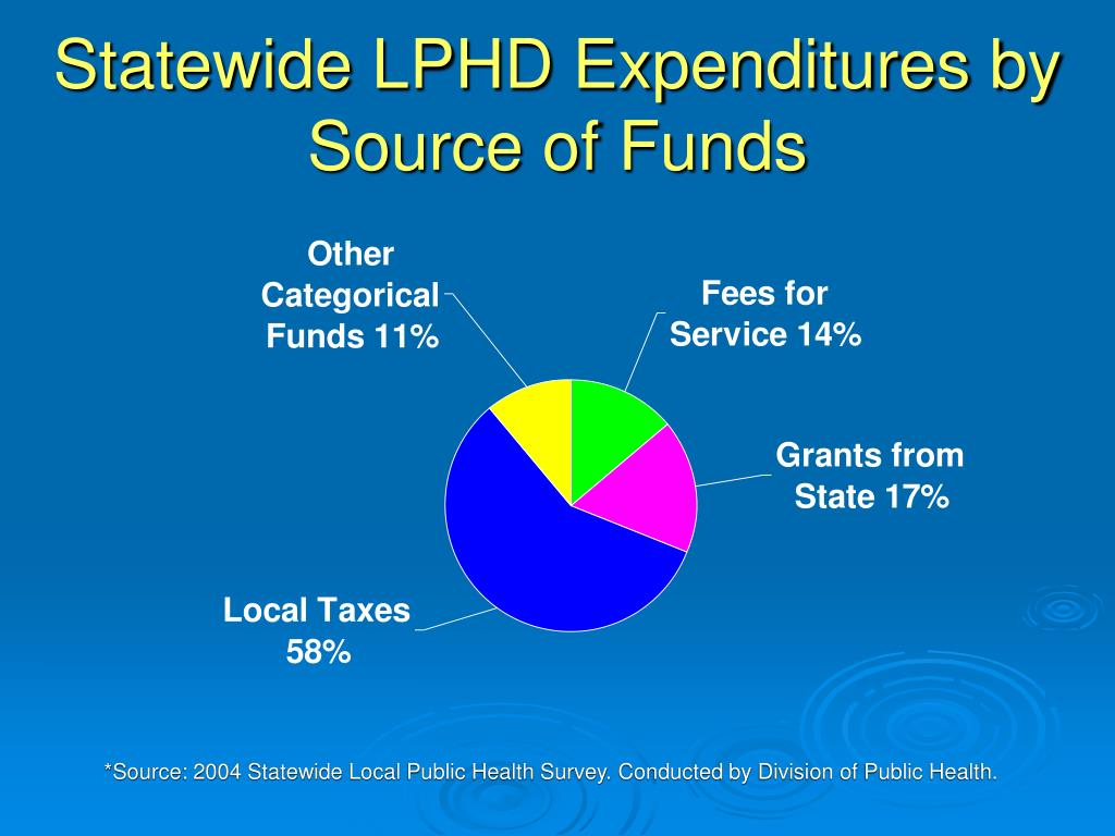 Statewide LPHD Expenditures by Source of Funds