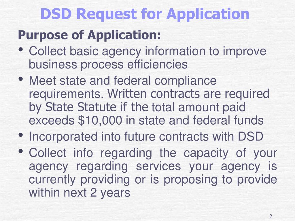 Purpose of Application: