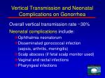 vertical transmission and neonatal complications on gonorrhea