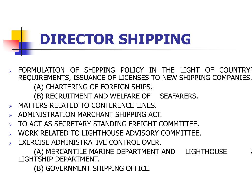 DIRECTOR SHIPPING