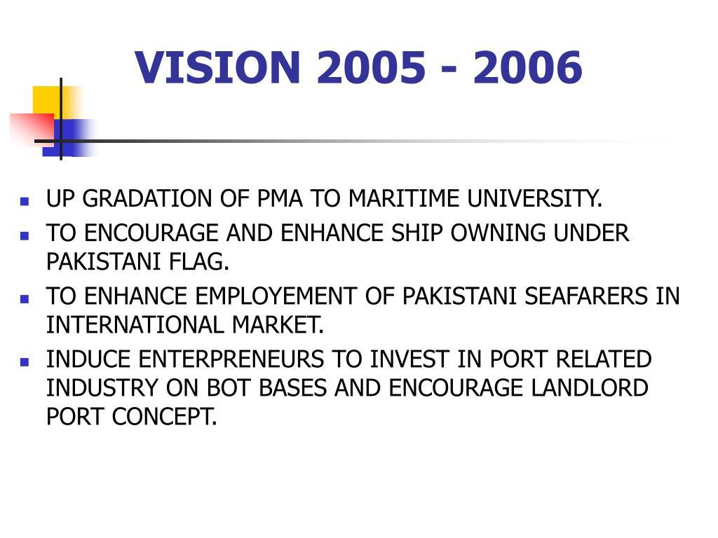 VISION 2005 - 2006