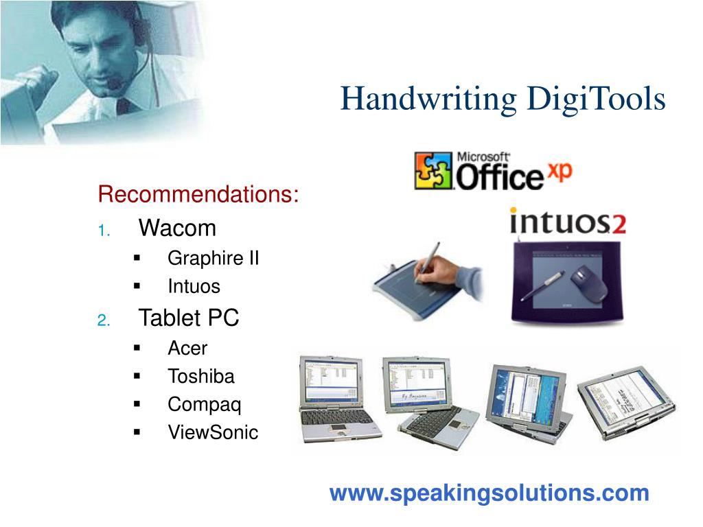 Handwriting DigiTools