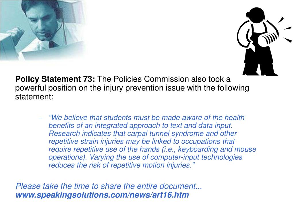 Policy Statement 73: