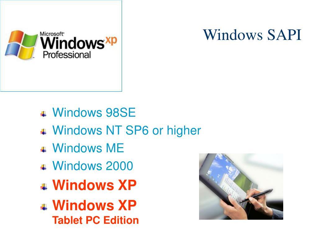 Windows SAPI