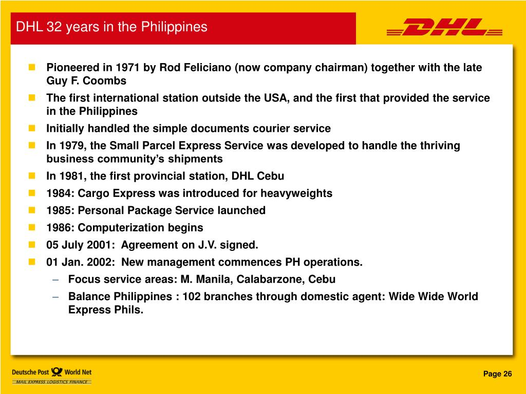 DHL 32 years in the Philippines
