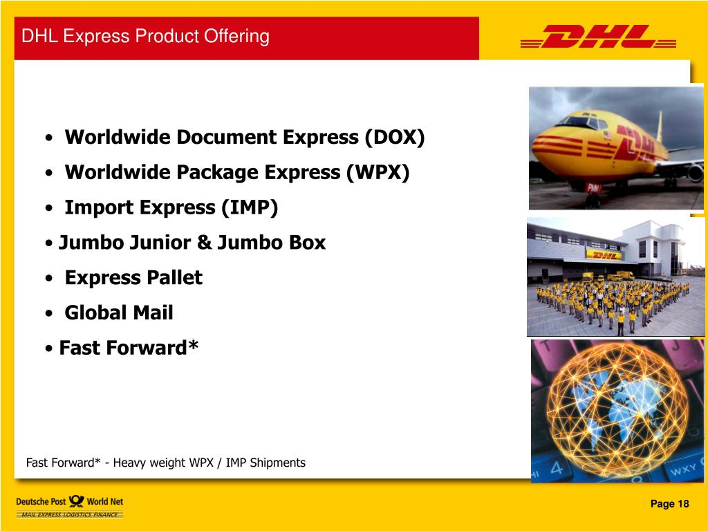 DHL Express Product Offering