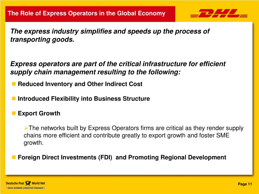 The Role of Express Operators in the Global Economy