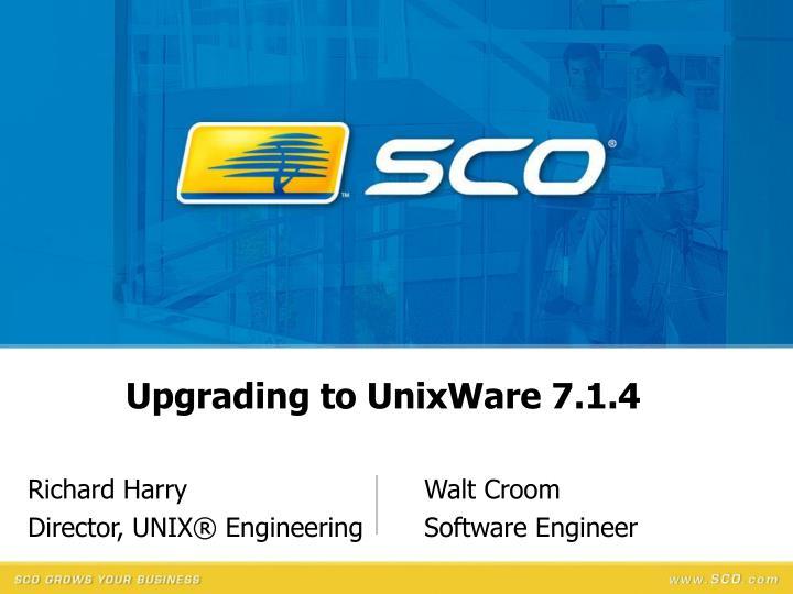Richard harry walt croom director unix engineering software engineer