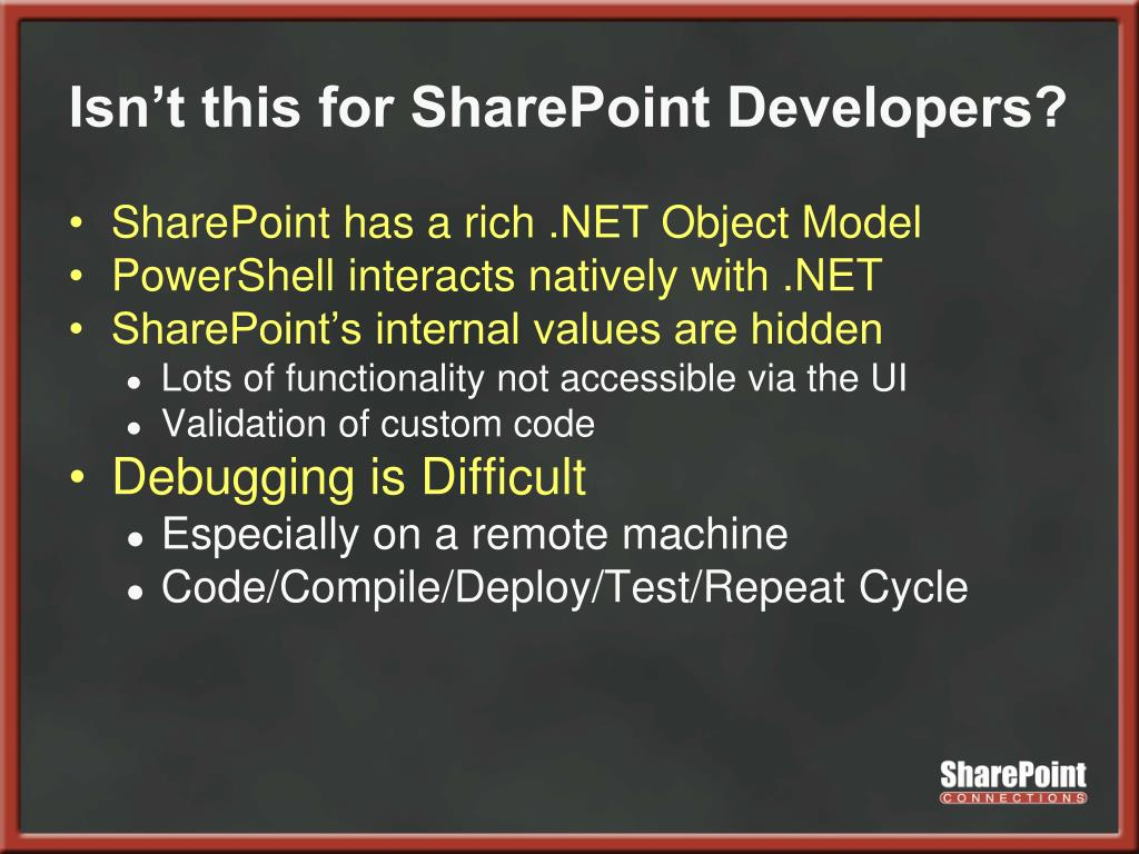 Isn't this for SharePoint Developers?