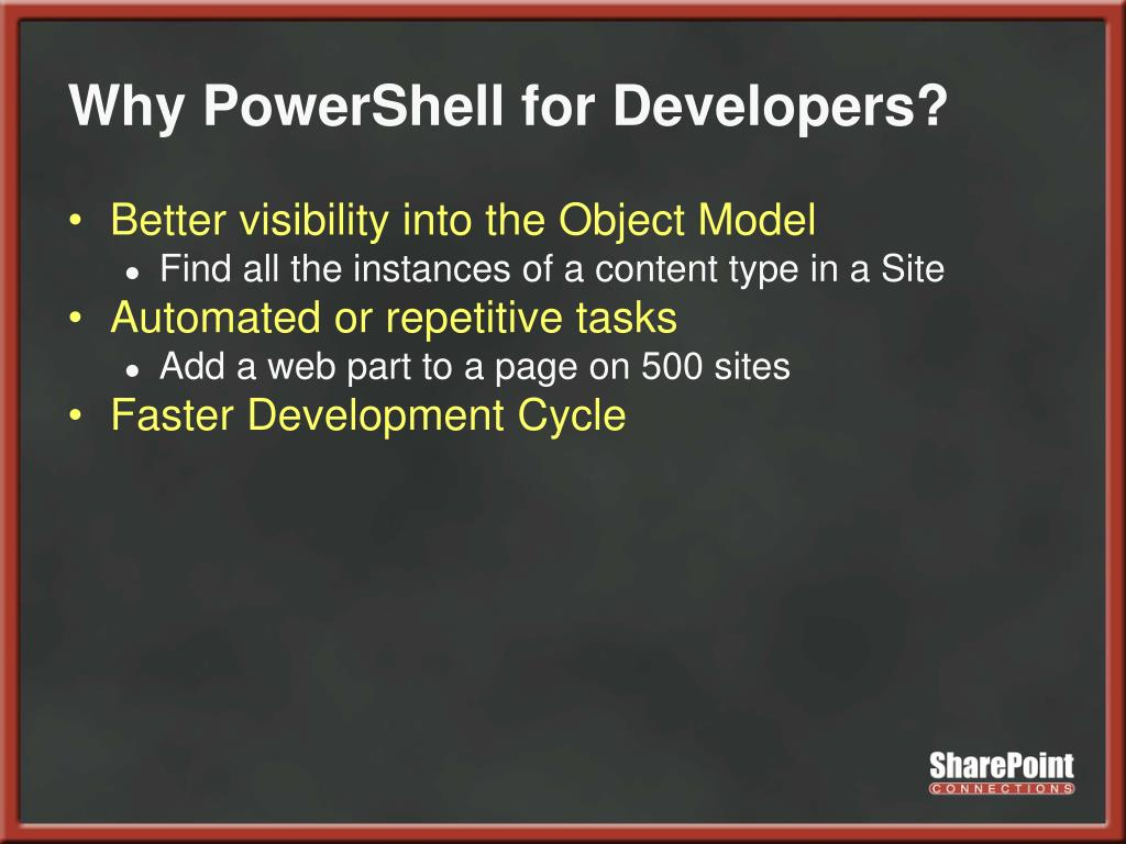Why PowerShell for Developers?