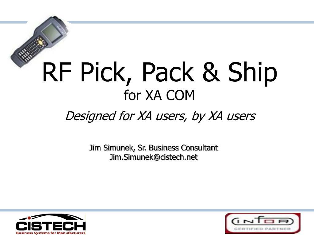 rf pick pack ship for xa com designed for xa users by xa users