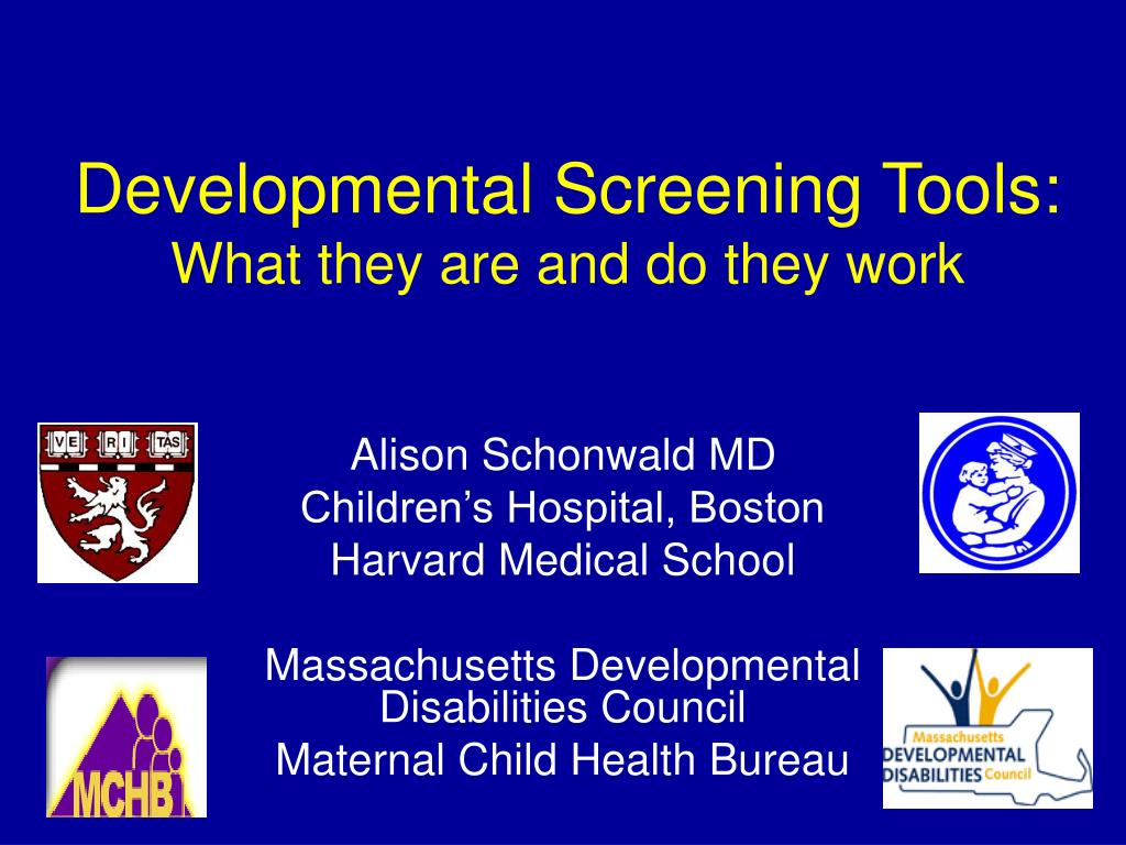 developmental screening tools what they are and do they work