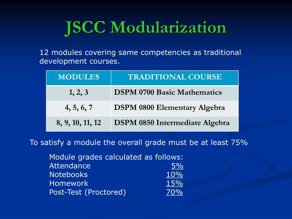 JSCC Modularization