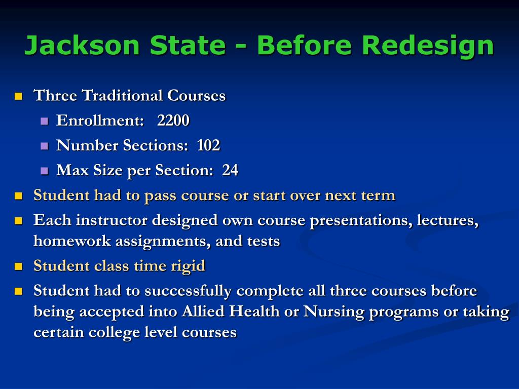 Jackson State - Before Redesign