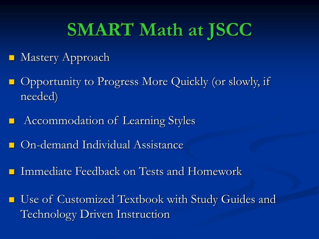 SMART Math at JSCC