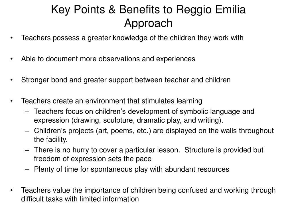 Key Points & Benefits to Reggio Emilia Approach