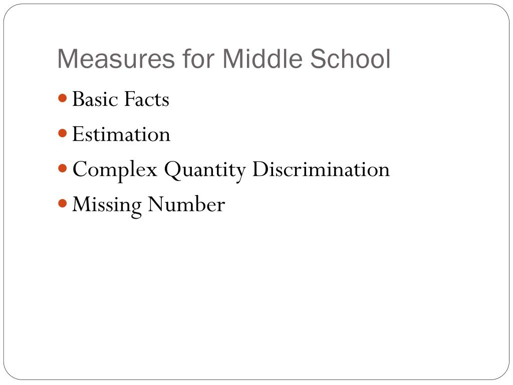 Measures for Middle School