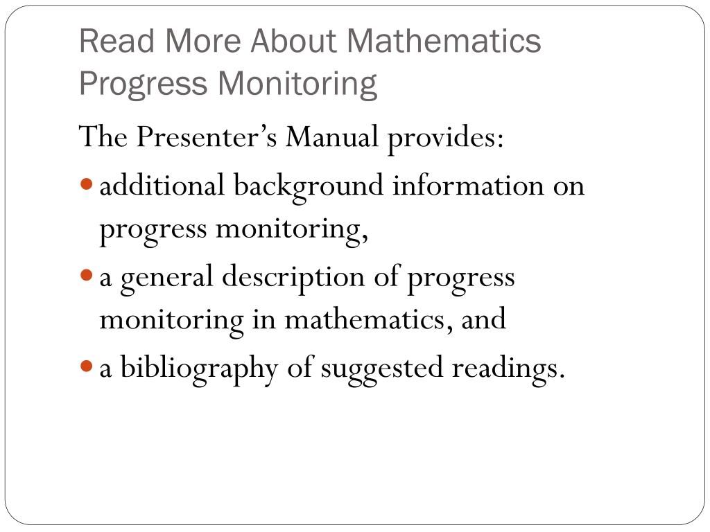 Read More About Mathematics Progress Monitoring