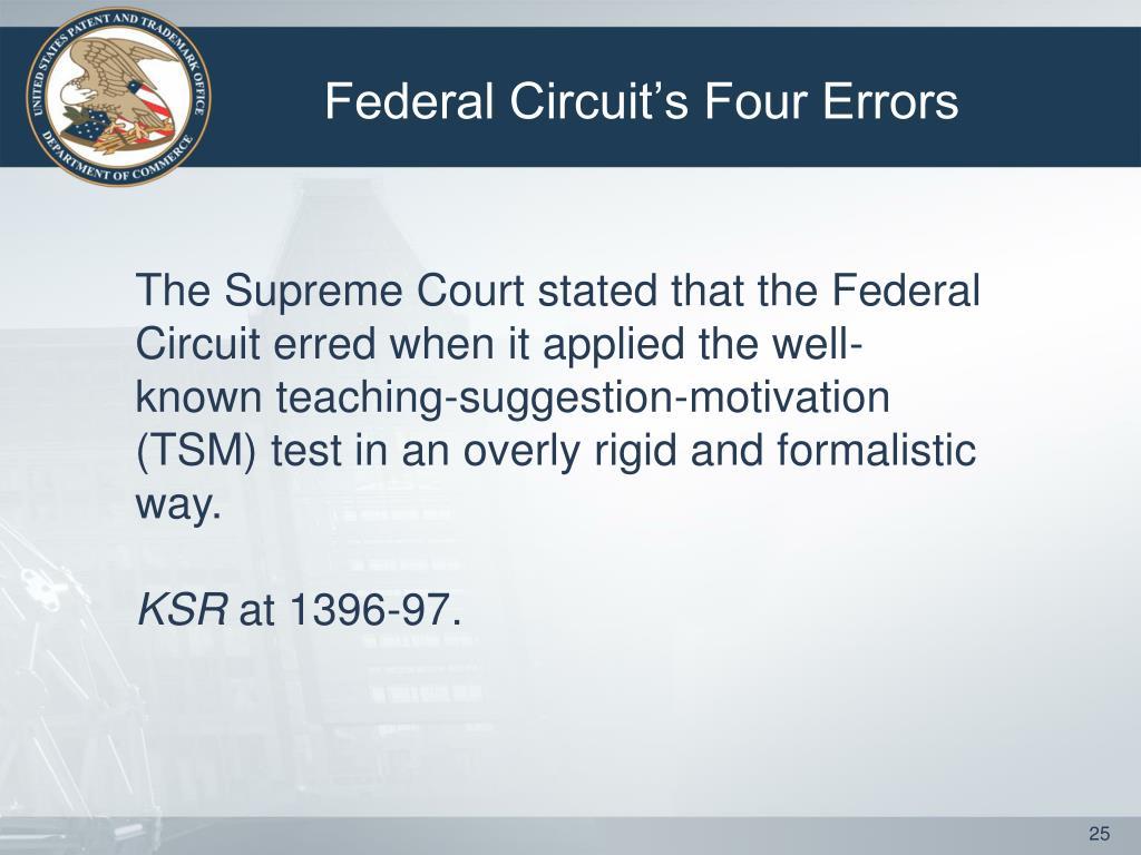 Federal Circuit's Four Errors