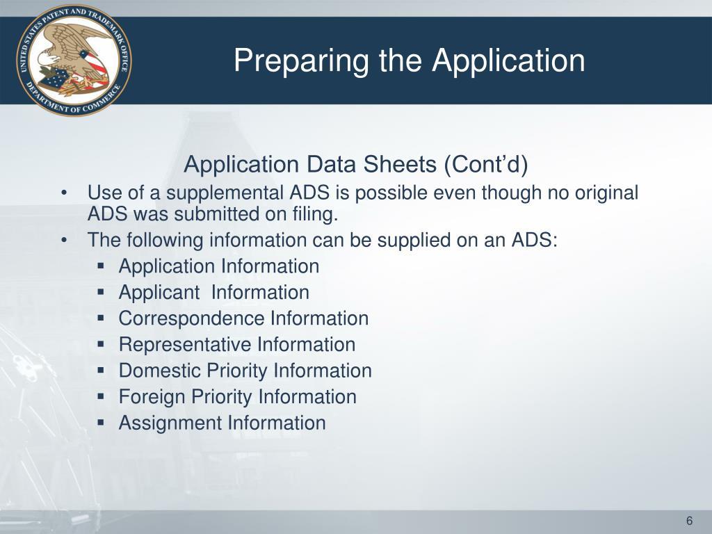 Preparing the Application