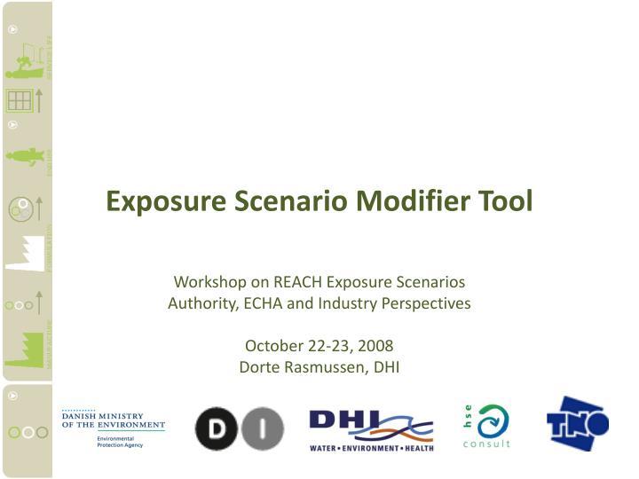 exposure scenario modifier tool n.