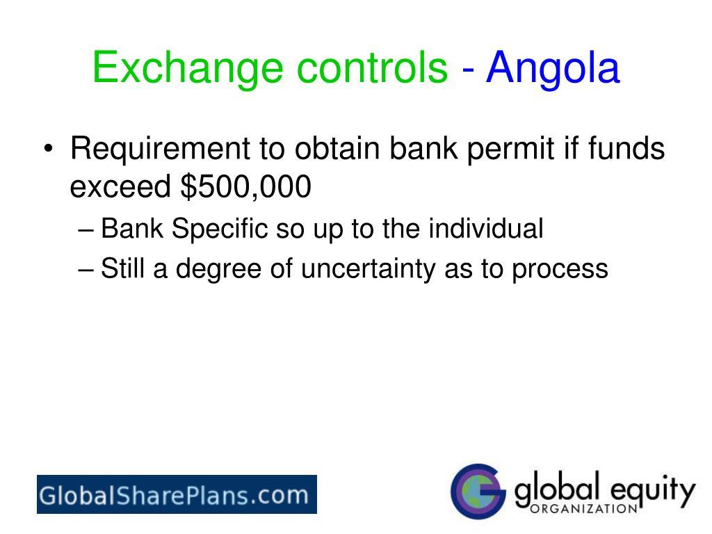 Exchange controls