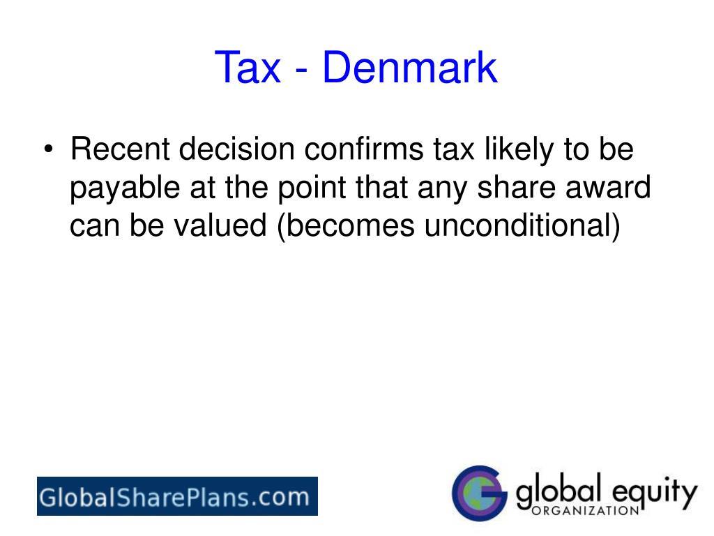 Tax - Denmark