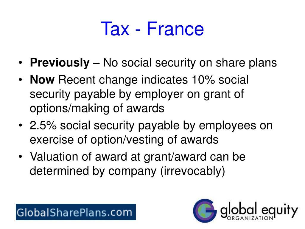 Tax - France