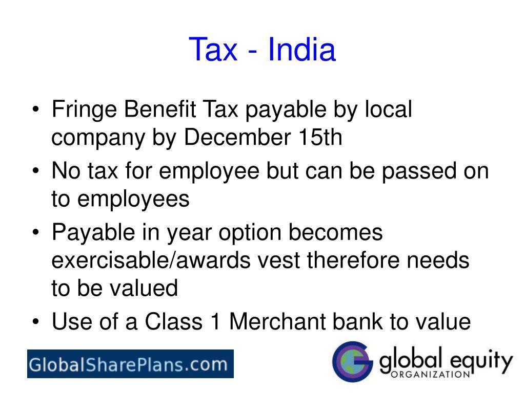 Tax - India