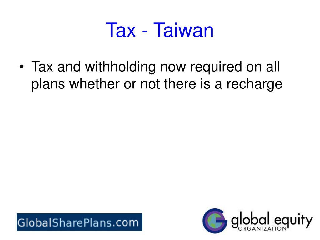 Tax - Taiwan