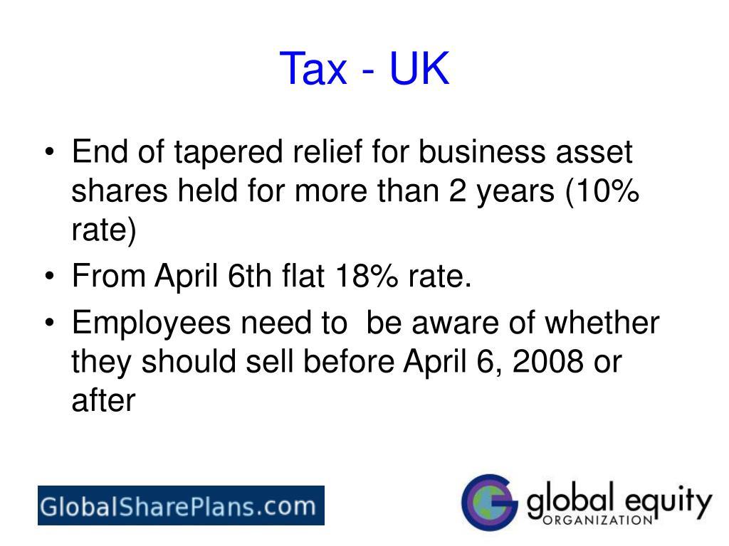 Tax - UK