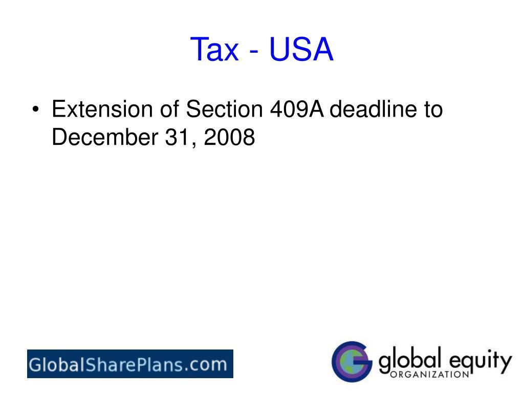 Tax - USA