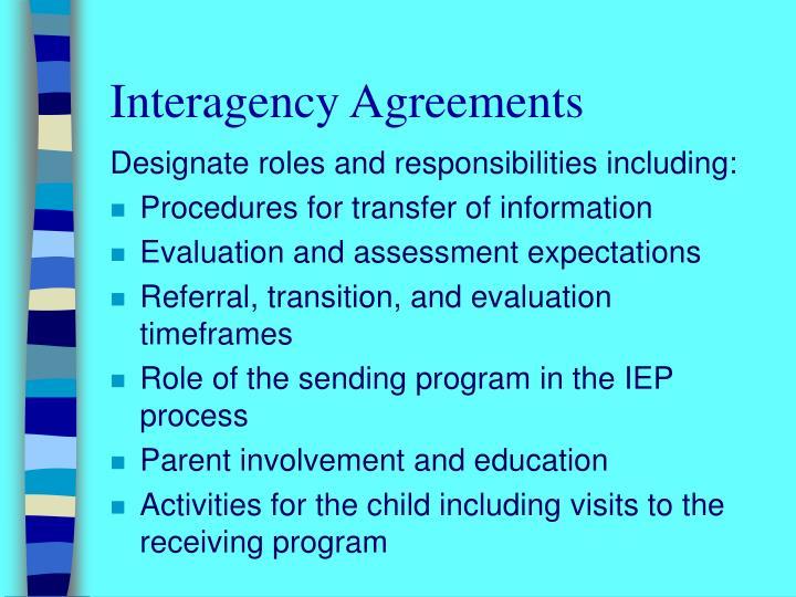 Interagency Agreements