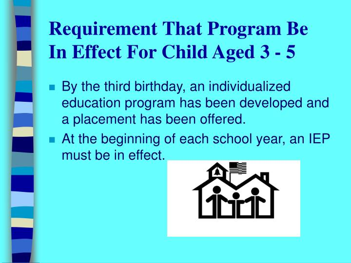 Requirement That Program Be