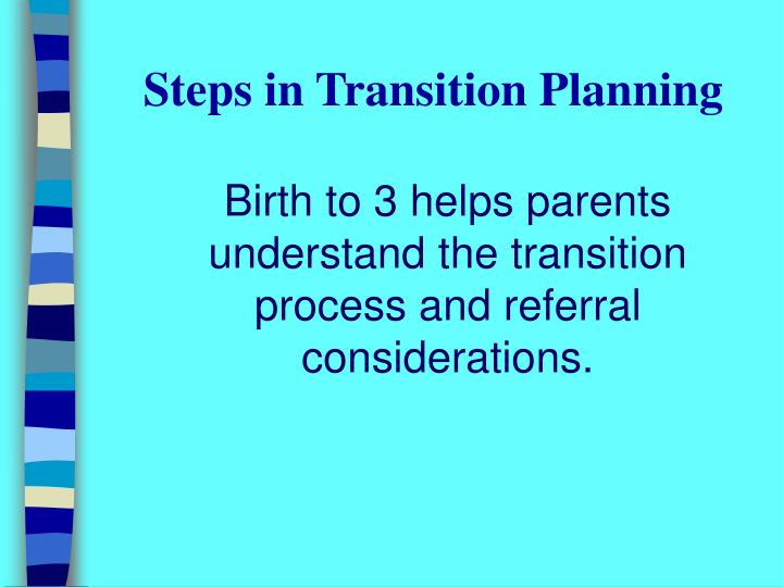Steps in Transition Planning
