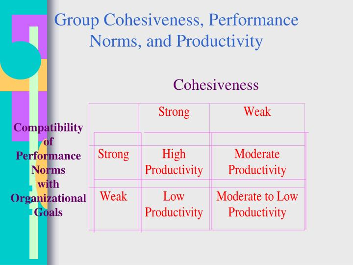 Group Cohesiveness, Performance Norms, and Productivity