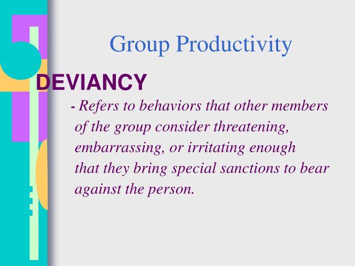 Group Productivity