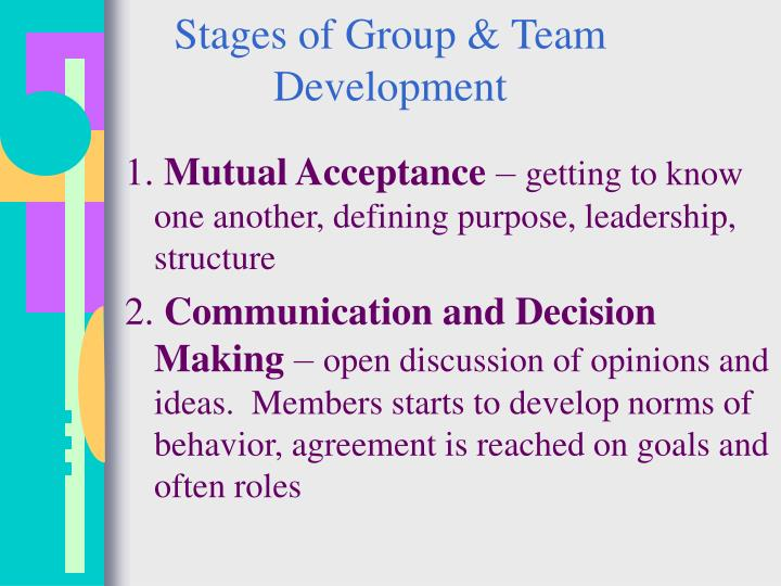 Stages of Group & Team Development