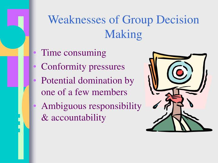 Weaknesses of Group Decision Making